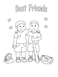 Small Picture Friendship Coloring Pages Best Coloring Pages For Kids