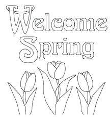 Spring Coloring Pages Free Spring Printable Coloring Pages Print Out