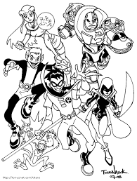 Small Picture Teen Titans Coloring Pages GetColoringPagescom