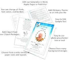 Booklet Program Template Funeral Booklet Template Word Surendran Me