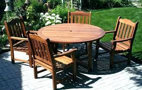 large round patio table round patio table and chairs wooden patio furniture sets wood patio