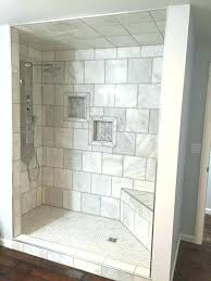 white tile drain board shower niche how to waterproof a preformed showers custom premade uk step