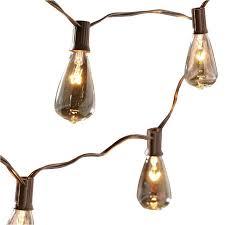 Solar Powered String Lights Lowes Shop Allen Roth 14 Ft Brown Indooroutdoor String Lights At