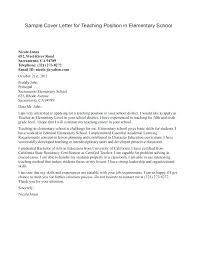 Sample Teaching Cover Letter Application Cover Letter Adorable Great