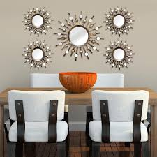 stratton home decor burst wall mirrors set of 5 shd0087 the