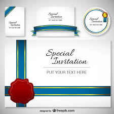 invitations cards free best design invitation card template vector free download