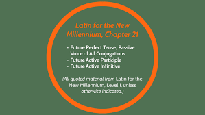 Latin Infinitives Chart Latin For The New Millennium Chapter 21 By Alexandra Durham