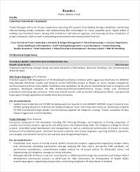 Project Lead Resume Sample Best of Manager Resume Sample Templates 24 Free Word PDF Documents