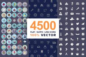 Free icons of leaf in various design styles for web, mobile, and graphic design projects. 4500 Vector Icons Bundle Flat Line Glyph In Svg Ai Psd 145224 Icons Design Bundles