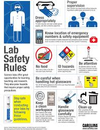 School Safety Rules Chart Lab Safety Rules Infographic