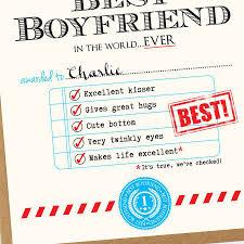 Best Boyfriend Award Certificate