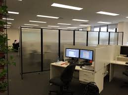 clear office. Clear Polycarbonate 360 Office Partition Dividing Call Centre