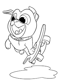 Puppy Dog Pals Coloring Pages Coloring Download