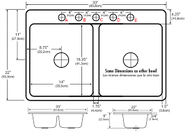 view dimensions faucet hole configuration