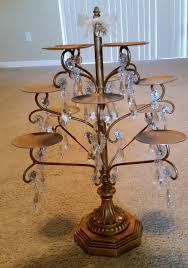 crystal chandelier cupcake stand and wedding cake with