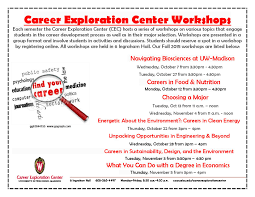 career exploration center workshops north hall blog career exploration center workshops flier for fall 2015 page 001