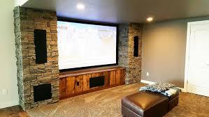 home depot faux stone entertainment center