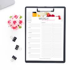 Weekly Meal Planning For One Daily Weekly Meal Planner