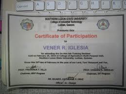 Vener Del Rosario Iglesia A Compilation Of Vener Iglesia Certificates