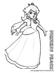 Small Picture Princess Peach Coloring Pages To Download And Print For Free