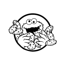 Elmo And Cookie Monster Coloring Pages
