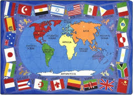 3 s flags of the world classroom rug size option available 1444