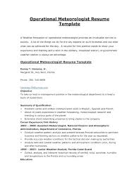 Meteorologist Sample Resume