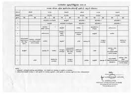s revised annual exam time table l p u p h s section h s attached lp up muslim school lp up