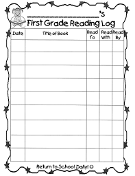 First Grade Reading Log Farelli Annette Grade 1 Teacher Reading Log Form