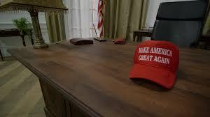 oval office desk. Trump Hat On Oval Office Desk