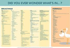 Ingredients In Breastmilk Versus Artificial Breastmilk