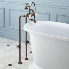 oil rubbed bronze freestanding telephone tub faucet supplies and valves porcelain