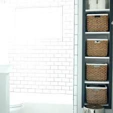 recessed bathroom shelving recessed bathroom shelves recessed vertical bathroom shelves with bins recessed bathroom shelf plans