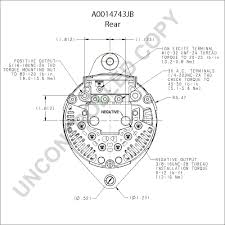 a0014743jb alternator product details prestolite leece neville a0014743jb rear dim drawing