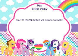 Online Birthday Invitations Templates Extraordinary FREE Printable My Little Pony Birthday Invitation Template Drevio