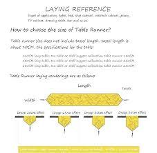 table runner length table runner size dressing runners drawer dressing table runners table runner length for table runner length