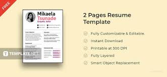 2 Page Cv Template 50 Best Resume Templates To Download Free Premium Templates