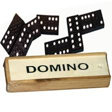 dominoes kids wooden box set toy traditional classic children 28 domino game fun