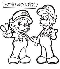 Small Picture Super Mario Coloring Pages