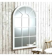 arched mirror window stylist ideas wall decoration distressed design with shutters pane mirrors decor arch