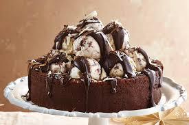 Hazelnut Swirl Ice Cream Sundae Cake