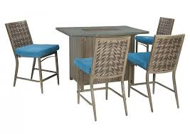 bar height table and chairs for outdoor melbourne bunnings long island furniture blue beige