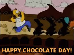 happy national chocolate day funny.  Funny National Chocolate Day GIF  NationalChocolateDay Homer Chocolateday GIFs In Happy Funny N