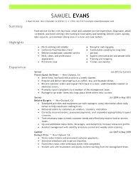 Resume For Server Resume Server Experience Servers Job Description Cool Resume For Server