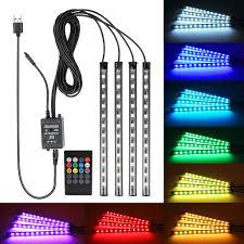 Coloured Interior Car Lights Amazon Com Car Led Strip Light Eforcar Wireless Remote