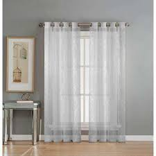 white sheer panels. Simple Panels Sheer Diamante Cotton Blend Burnout 84 In L Grommet Curtain Panel  Pair White For Panels