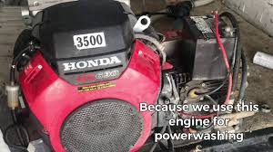 oil change honda gx690 with part