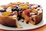 blueberry peach pudding cake
