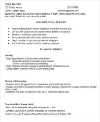 Teacher Skills For Resume Delectable Resume For Secondary Teachers