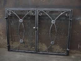 fireplace screen 7 6 custom design glass doors inside fit frame
